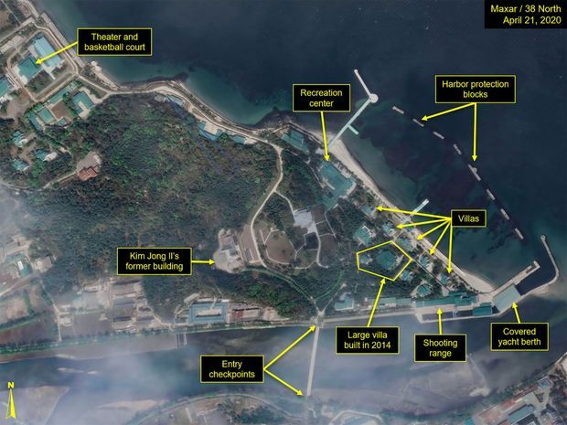 Vue satellite du complexe dédié au dictateur nord-coréen à Wonsan, le 21 avril.