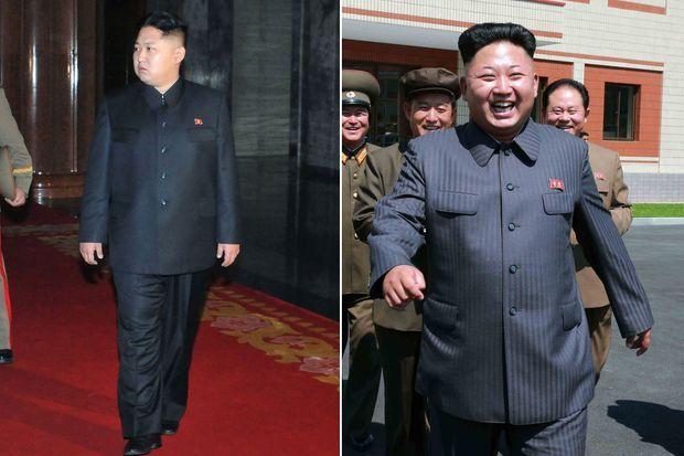L'évolution de Kim Jong-un: à gauche, en décembre 2011, à droite, en juillet 2014.