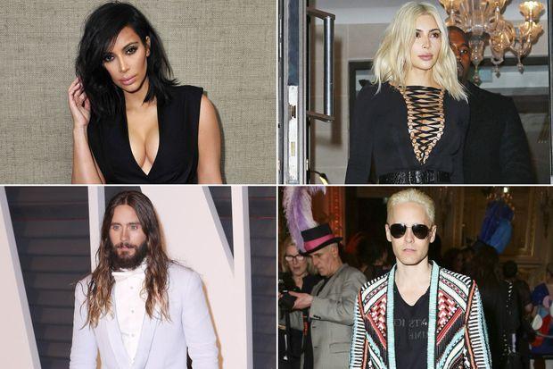Kim Kardashian et Jared Leto, les blonds de 2015.