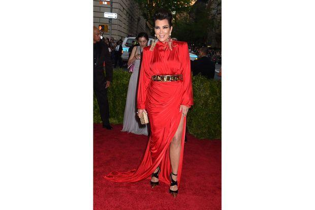 Kris Jenner au Gala du Met.