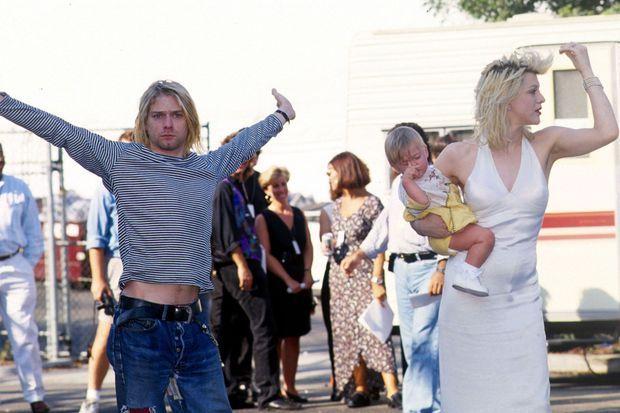 Kurt, Courtney et la petite Frances dans les bras de sa mère, le 2 septembre 1993.