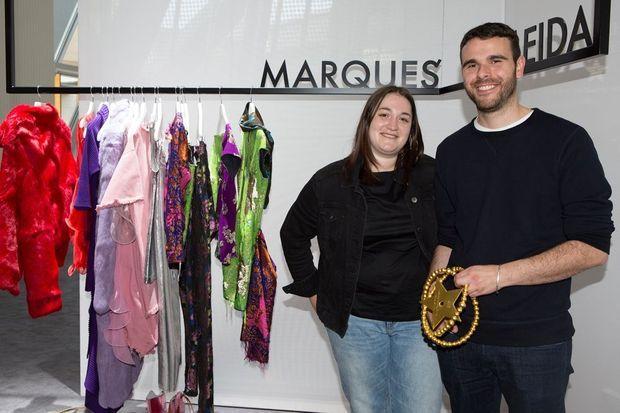 Les grands gagnants du prix LVMH : Marta Marques et Paulo Almeida.