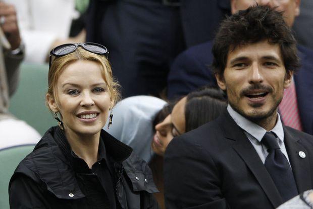 Kylie et Andres à Wimbledon, en juillet 2012.
