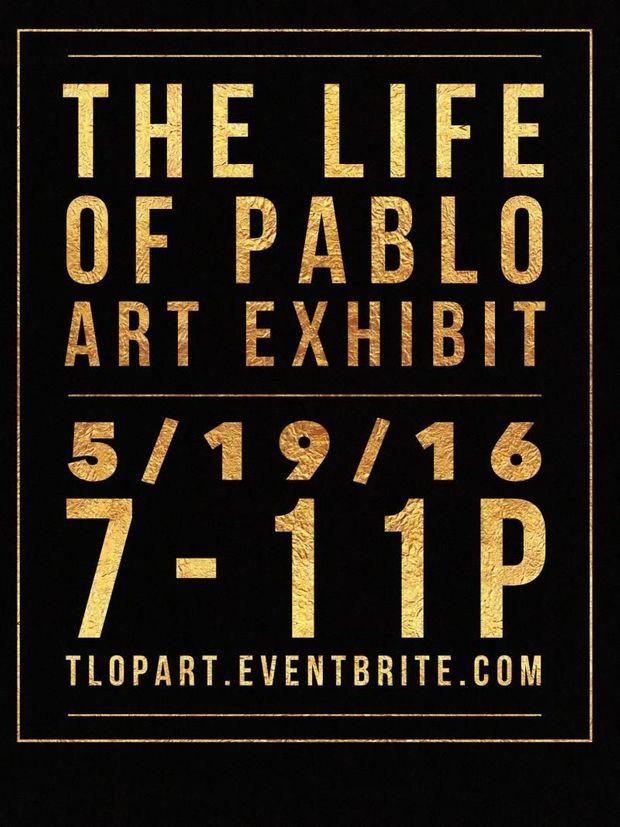 L'affiche de l'expo Kanye West