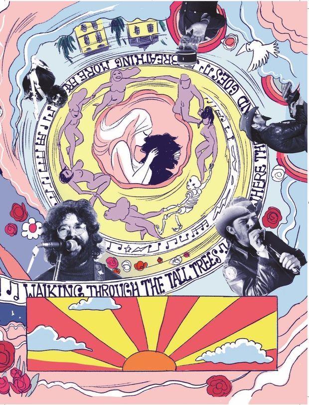 L'album, patchwork de dessins et de photos d'archives, évoque l'intensité créative qui régnait autour du compositeur de musiques de film.