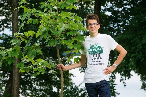 L'ALLEMAND FELIX FINKBEINER (22 ANS) a lancé son projet Plant-for-the-Planet à 9 ans. Plus de 13 milliards d'arbres ont été plantés dans 190 pays.