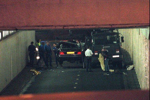 L'accident dans le tunnel près du pont de l'Alma.