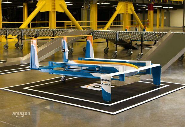 L'Amazon Prime Air se donne pour objectif de livrer des objets de moins de 2,25 kilos en trente minutes