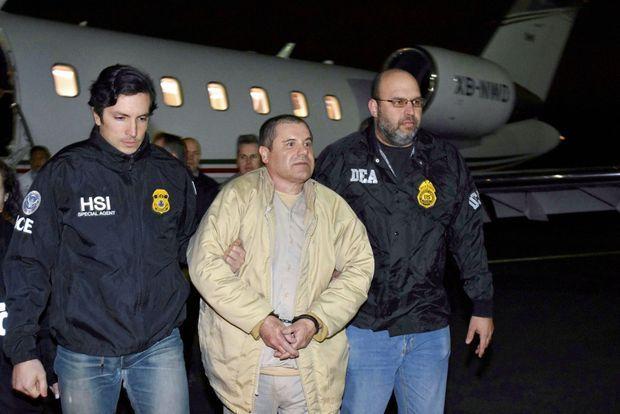 L'arrivée du criminel mexicain aux Etats-Unis le 19 janvier 2017, à l'aéroport MacArthur de Long Island.