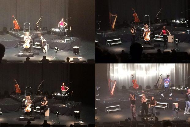 L.E.J. sur scène à l'Olympia, vendredi soir.