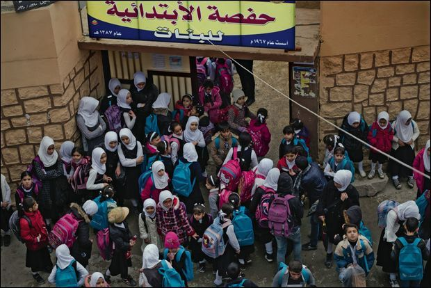 L'école Al-Hafsa est la première de la vieille ville à avoir rouvert.