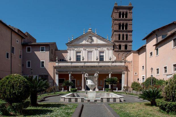 L'église Santa Cecilia, dans la Rome baroque qu'apprécie la créatrice.
