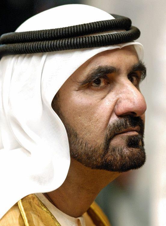 L'émir de Dubaï, Al-Maktoum.