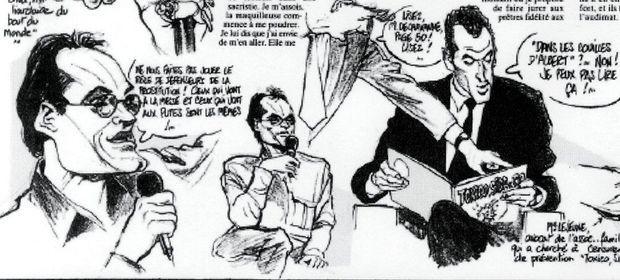 L'émission de Christophe Dechavanne dessinée dans Charlie Hebdo.