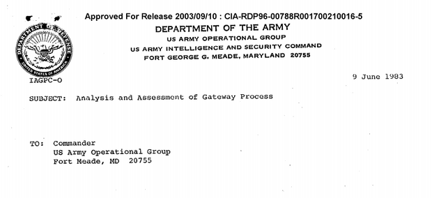 L'en-tête du rapport du lieutenant-colonel McDonnell