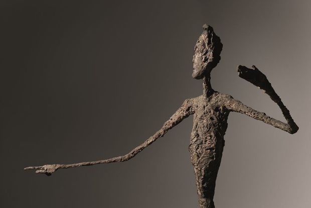 "L'homme au doigt"", d'Alberto Giacometti"