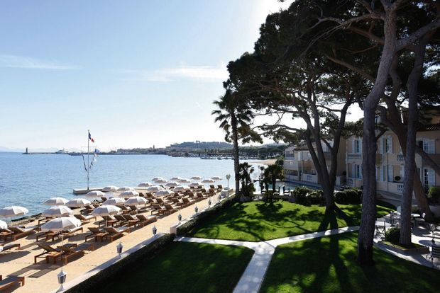 L'hôtel Cheval Blanc St-Tropez.