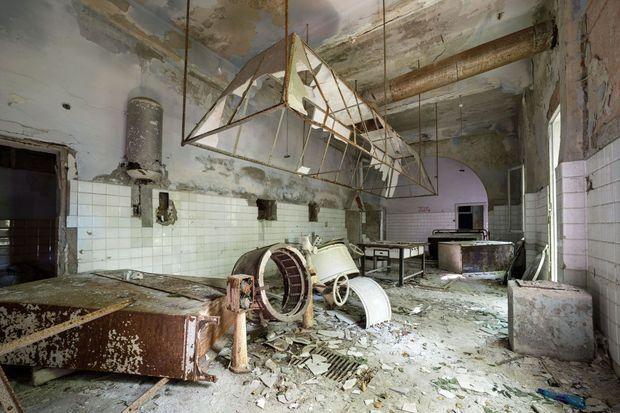 L'intérieur d'un bâtiment situé sur Poveglia.