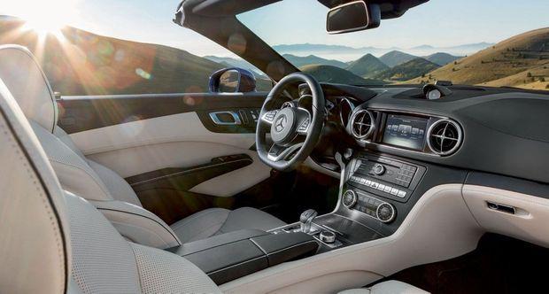 L'intérieur de la Mercedes SL