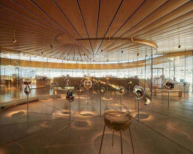L'intérieur du musée, au coeur de la spirale.