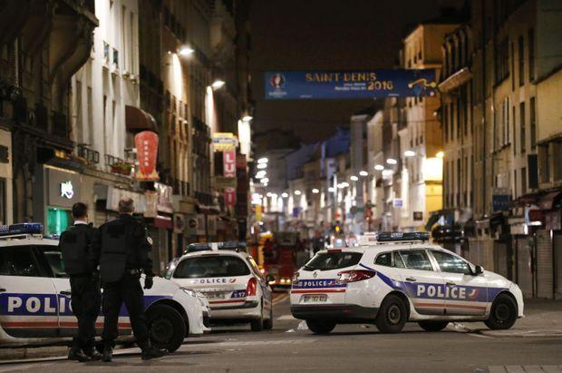 L'intervention en cours à Saint-Denis