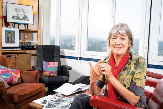 La comédienne chez elle à Aubenas, où elle dirige le théâtre La Bobine, le 27 février.