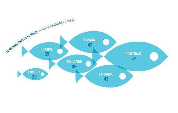 La consommation de poisson en Europe a moins augmenté que prévu