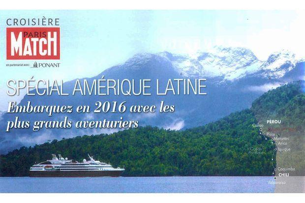 La Croisière Paris Match avec Ponant en Amérique Latine.