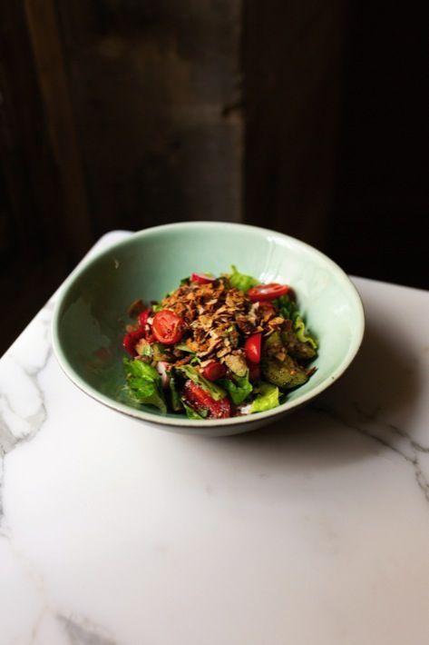 La fameuse salade Caesar Beirut, au poulet mariné façon shawarma.