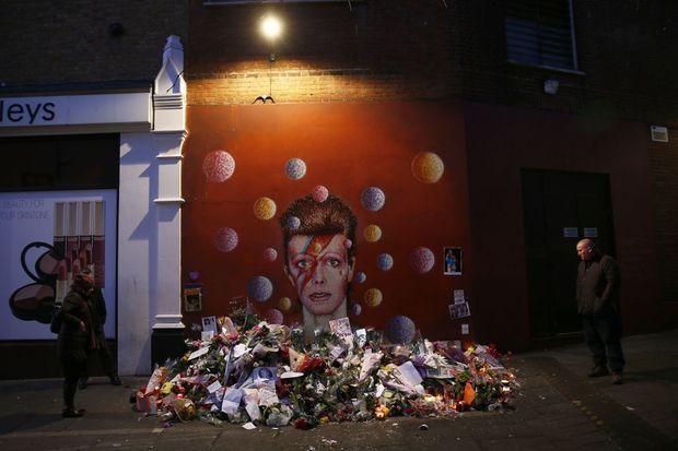 La fresque en hommage à David Bowie à Brixton, le quartier de Londres où il est né en 1947.