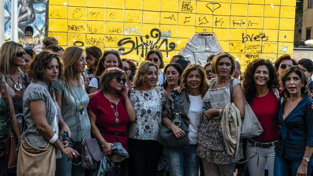 La « Marche des mamans » organisée par la mère d'Arturo, Maria Luisa Ivarone, le 17 septembre pour protester contre la violence des « baby gangs ».