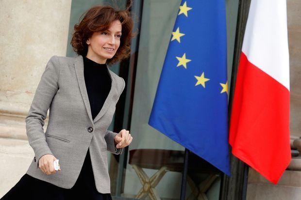 La ministre de la Culture Audrey Azoulayy