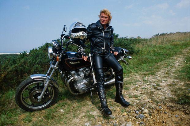 La moto. La passion d'une vie. Ici, en 1982, au Touquet?