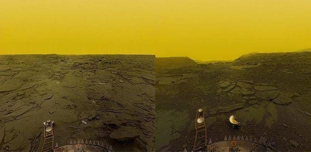 La surface de Vénus photographiée par les sondes Venera 13 et 14