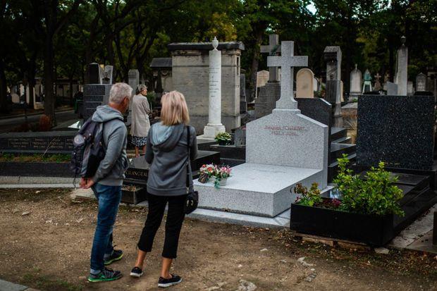 La tombe de Jacques Chirac au cimetière du Montparnasse, photographiée vendredi dernier.
