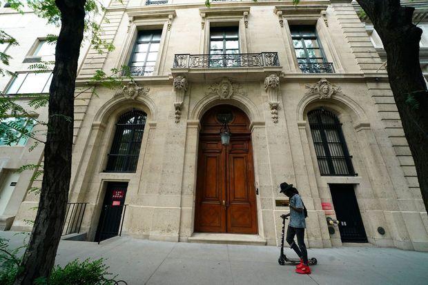 La vaste maison de Jeffrey Epstein dans Manhattan. Des chercheurs y ont parfois été conviés pour des dîners.