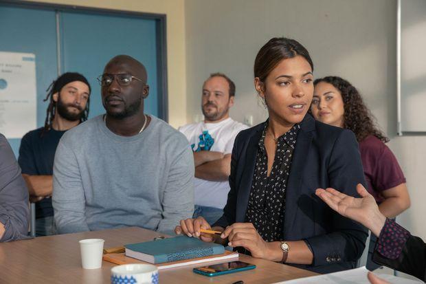 """Moussa Mansaly, Alban Ivanov et Zita Hanrot dans """"La Vie scolaire"""". Le film est sorti le 28 août 2019 dans les salles et a engrangé plus de 807.000 entrées au box office en deux semaines d'exploitation."""