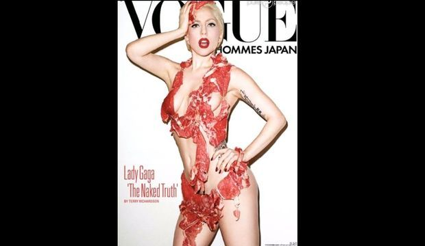 Lady Gaga Vogue Japon Viande-