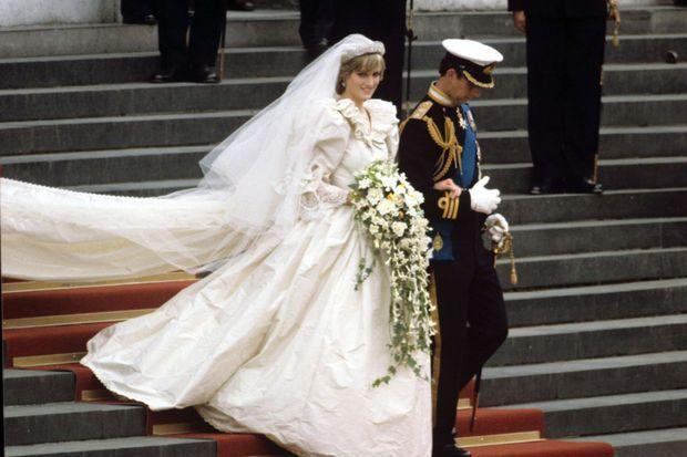 La princesse Diana et le prince Charles, le jour de leur mariage, le 29 juillet 1981.