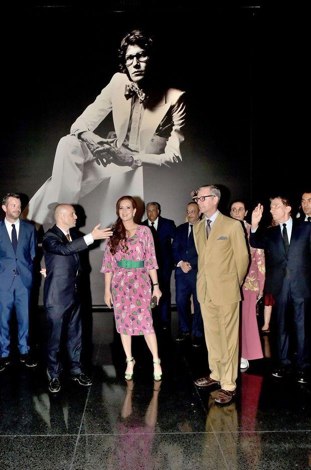 La princesse Lalla Salma du Maroc lors de l'inauguration du musée Yves Saint Laurent Marrakech, le 14 octobre 2017