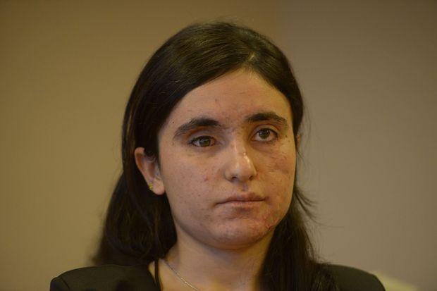 Lamiya Aji Bashar à Strasbourg, le 13 décembre 2016.
