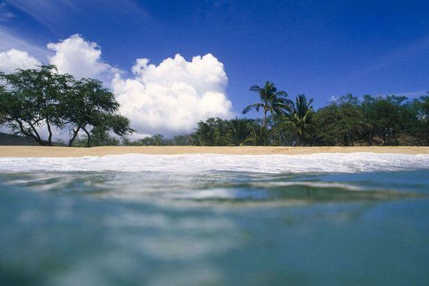 Une des magnifiques plages de Lanai.