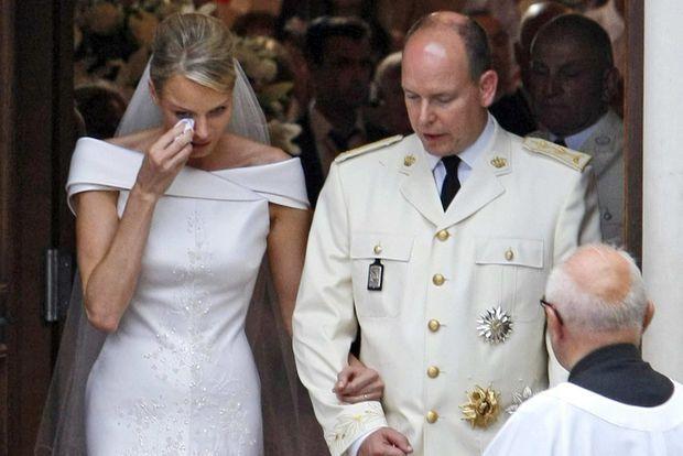 Les larmes de Charlène ont fait couler beaucoup d'encre à l'époque.