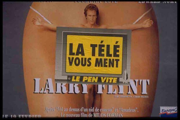 L'affiche du film de Miloš Forman avait fait scandale. Interdite aux Etats-Unis, elle avait été autorisée en France, non sans protestations.