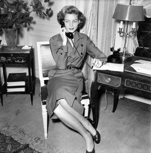 Lauren Bacall au Ritz de Paris, en avril 1951.