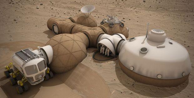 L'habitat imaginé par l'équipe LavaHive.