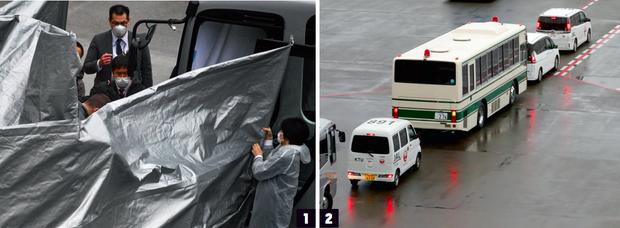 Le 2 mars 2021. Michael Taylor, ancien Béret vert de 60 ans reconverti dans la sécurité privée, et son fils Peter, 27 ans, arrivent sous haute surveillance à Tokyo. Ils sont accusés d'avoir facilité l'évasion de Carlos Ghosn. L'Amérique a accepté d'extrader ses deux ressortissants.