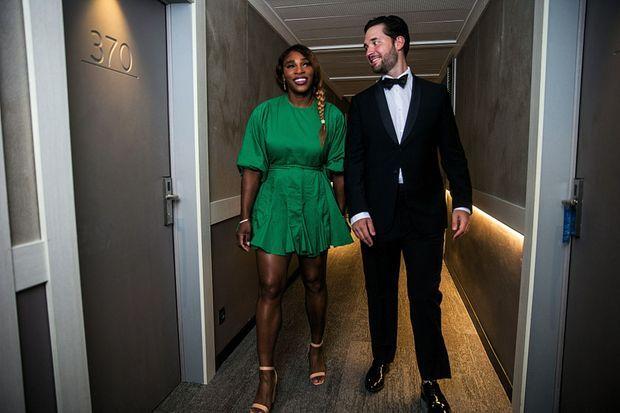 Le 23 juin, au Mouratoglou Resort, à Biot, Serena et son mari, Alexis Ohanian.