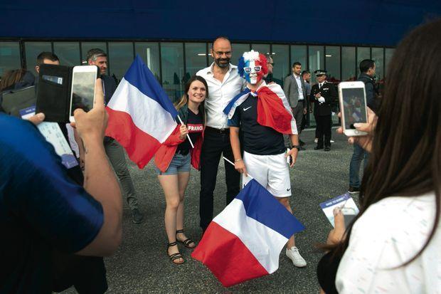 Le 23 juin, avant le match France-Brésil (2-1), qui se joue au stade du Havre.