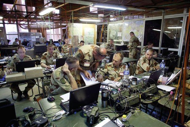 Le centre opérationnel de l'opération Serval à Gao, au Mali.